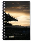 Coors Field At Sunset Spiral Notebook