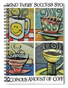 Copious Amounts Of Coffee Spiral Notebook