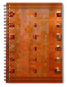 Copper Abstract Spiral Notebook