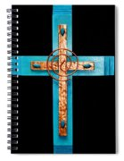 Copper And Stone Cross Spiral Notebook