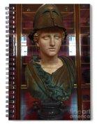 Copper Bust In Rome Spiral Notebook