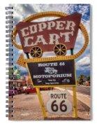 Copper Cart Spiral Notebook