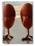 Copper Chicken Feet Egg Cups Spiral Notebook