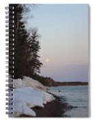 Copper Country Moonset Portrait Spiral Notebook