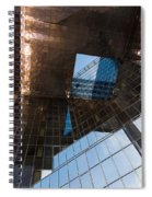Copper Glass And Steel Geometry - Fabulous Modern Architecture In London U K Spiral Notebook