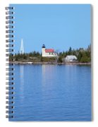 Copper Harbor Lighthouse Spiral Notebook