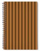 Copper Orange Striped Pattern Design Spiral Notebook