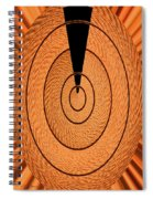 Copper Panel Abstract Spiral Notebook