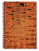 Copper Plates Double Abstract Spiral Notebook