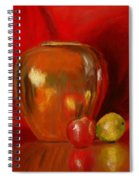 Copper Pot And Fruit Spiral Notebook