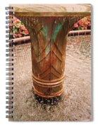Copper Water Fountain Spiral Notebook