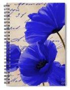 Coquelicots Bleue Spiral Notebook
