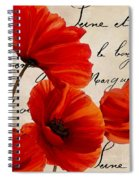 Coquelicots Rouge I Spiral Notebook