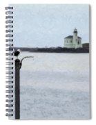 Coquille Lighthouse Spiral Notebook
