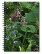 Coral Flower Path Spiral Notebook