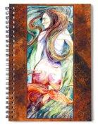 Coral Mermaid Spiral Notebook