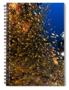 Coral Reef And Diver  Spiral Notebook