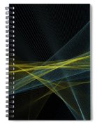 Coral Reef Computer Graphic Line Pattern Spiral Notebook