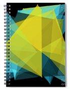 Coral Reef Polygon Pattern Spiral Notebook