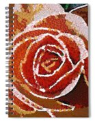 Coral Rose In The Mix Spiral Notebook