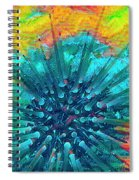 Corals Under The Sea Color Burst Spiral Notebook