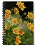 Coreopsis Tickseed Spiral Notebook