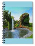 Corey Rockafeler - Mother Nature Fountain Spiral Notebook