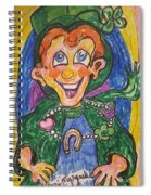 Corey The Lepperchaun Lucky Charms Spiral Notebook