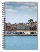 Corfu Town Port With Warehouses Spiral Notebook
