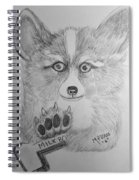 Corgi Pup Spiral Notebook