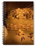 Cork And Basket 1 Spiral Notebook