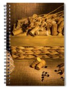Cork And Basket 3 Spiral Notebook