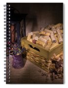 Cork And Basket And Lamp Spiral Notebook