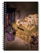 Cork Basket Candle Lamp Spiral Notebook