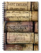 Corks Of French Wine Spiral Notebook