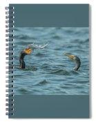 Cormorant Fish Fight Spiral Notebook