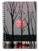 Cormorant Gathering At Sunrise Spiral Notebook
