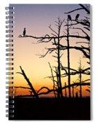 Cormorant Sunset Spiral Notebook