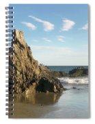 Cormorants At El Madador Beach Spiral Notebook