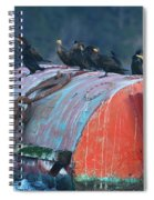 Cormorants On A Barrel Spiral Notebook