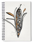 corn- contemporary art by Linda Woods Spiral Notebook