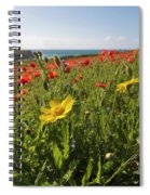 Corn Marigold And Poppies Spiral Notebook