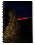 Corn Shock At Setting Sun Spiral Notebook
