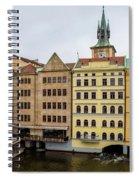 Corner Buildings In Prague Spiral Notebook