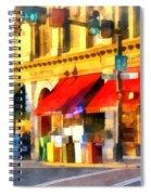 Corner Of Center And Merchant Rutland Vt Spiral Notebook