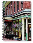 Corner Restaurant With Hanging Plants Spiral Notebook
