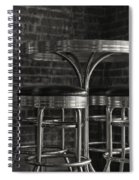 Corner Table - Black And White Spiral Notebook