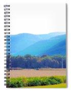 Cornfield On Bright Autumn Day 3 Spiral Notebook