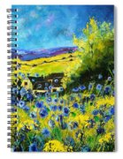 Cornflowers In Ver Spiral Notebook