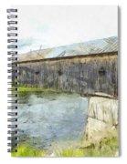 Cornish Windsor Covered Bridge Pencil Spiral Notebook